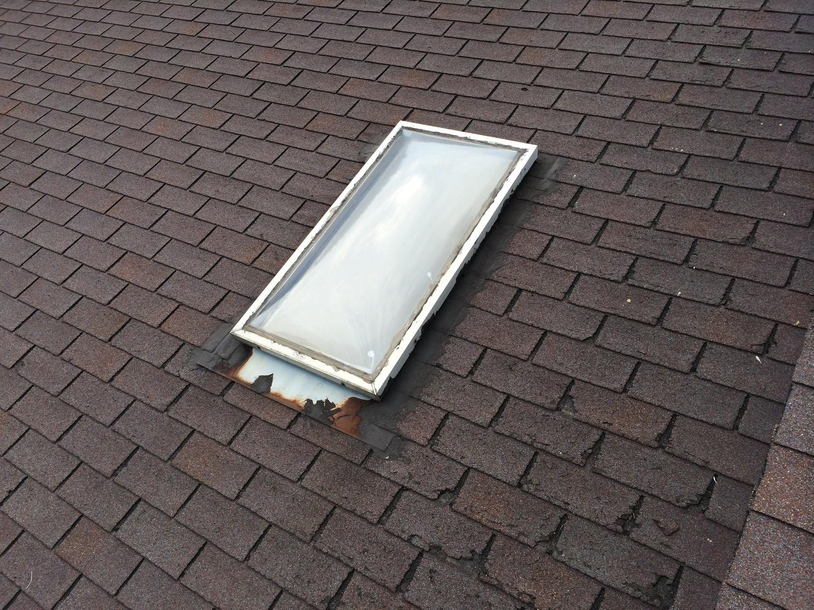 One of the skylights before replacement.