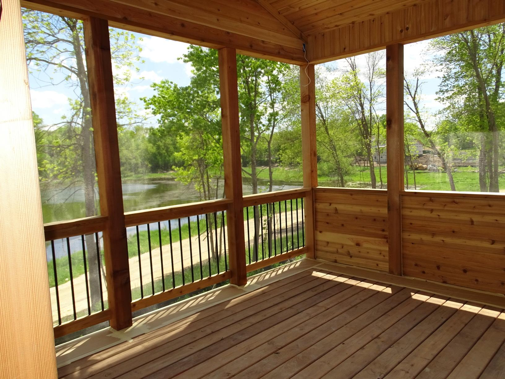 Screened Porch With Attached Deck In Lakeville Mn Roof